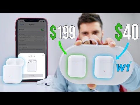 New PERFECT Fake AirPods 2 use W1 Pairing!!? $40 W1TF