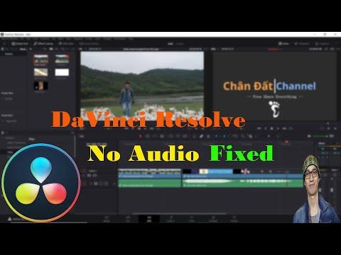 DR Tips ✅6: cách sửa lỗi video có hình nhưng không có âm thanh trong DaVinci Resolve