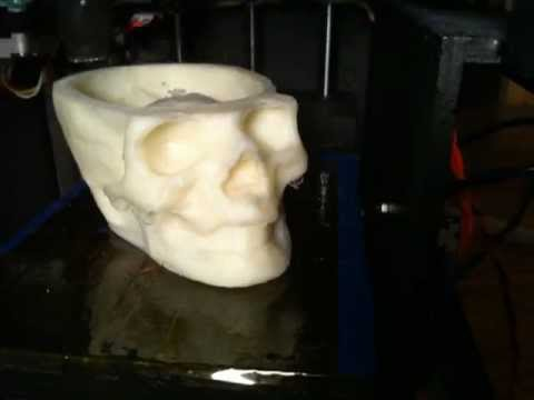 Skull on Solidoodle 3D Printer