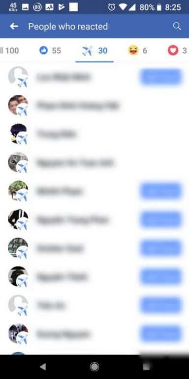 biểu tượng cảm xúc máy bay Facebook
