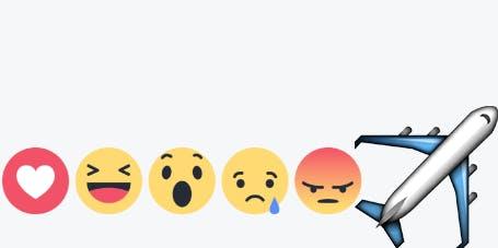 Hướng dẫn thả biểu tượng cảm xúc Máy Bay trên Facebook