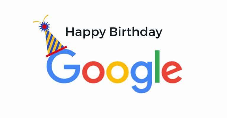 04/09/2018 – Chúc mừng sinh nhật Google tròn 20 tuổi