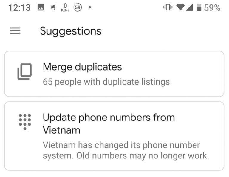 Chuyen dau so 11 so sang 10 so - Google Contact