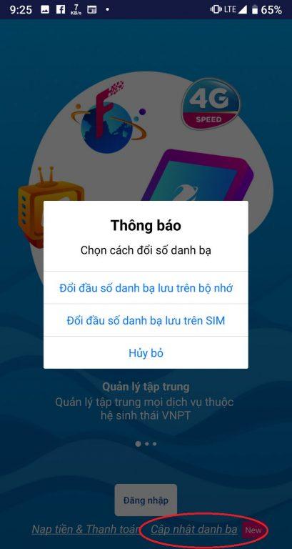 Chuyen dau so 11 so sang 10 so - Vinaphone My VNPT