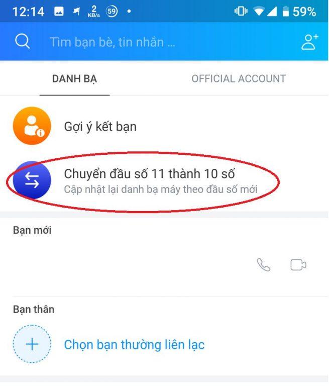 Chuyen dau so 11 so sang 10 so - Zalo