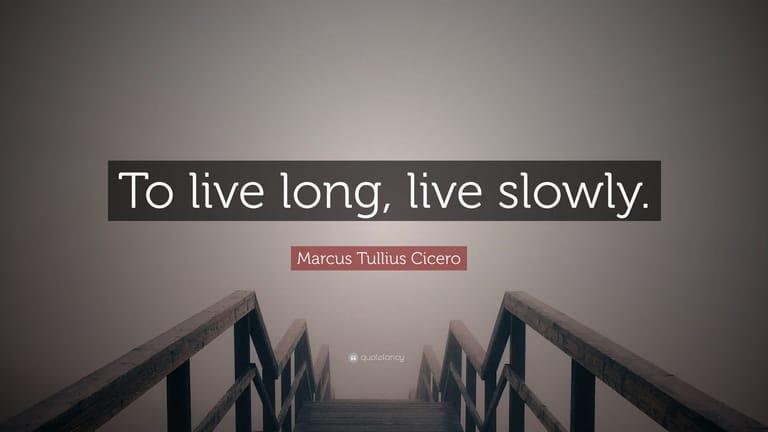 Live Slowly - sống chậm