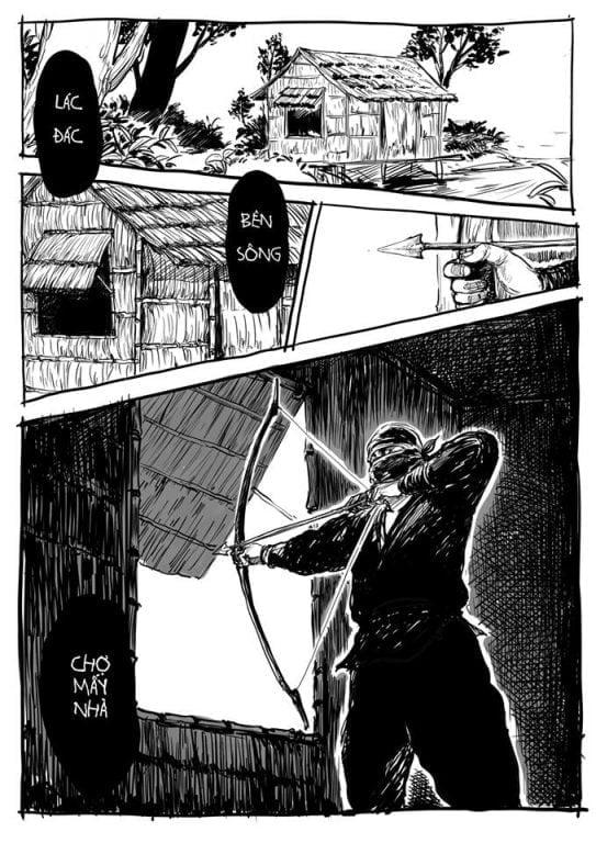 """""""Qua Đèo Ngang"""" minh họa theo phong cách Kiếm Hiệp Kim Dung"""