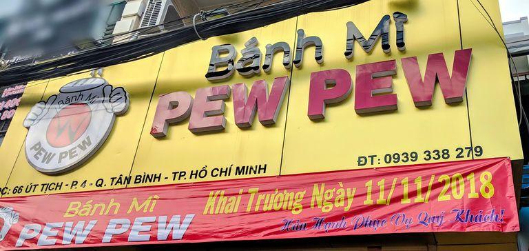 Review Bánh mì Pew Pew