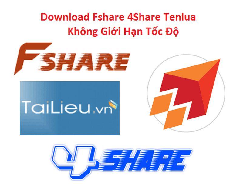 Hướng dẫn download Fshare 4share miễn phí không giới hạn tốc độ