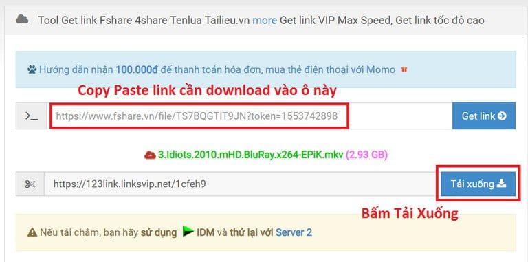 Hướng dẫn download Fshare 4share Tenlua không giới hạn tốc độ