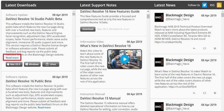Davinci Resolve Release Notes