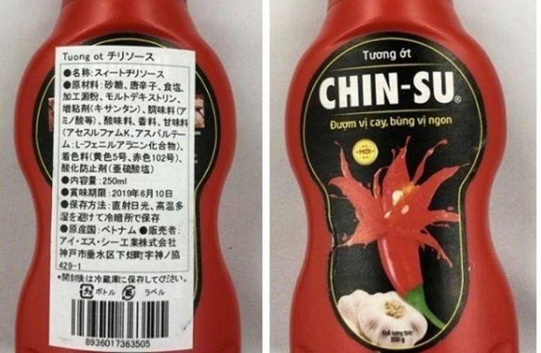 Tương ớt Chinsu bị thu hồi tại Nhật Bản. Thực hư ra sao?