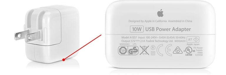 iPad Charger Input Output