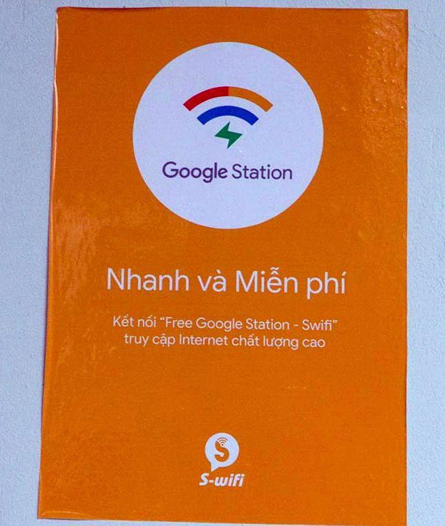 Poster Google Station Free Wifi