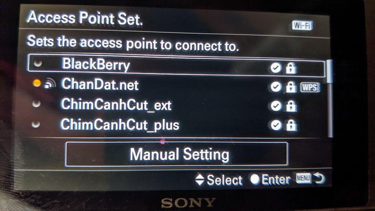 Access Point Set Sony A6000