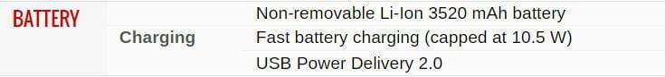 Battery Info Google Pixel 2 Xl