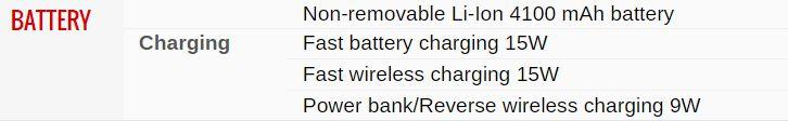 Battery Info Samsung Galaxy S10 Plus