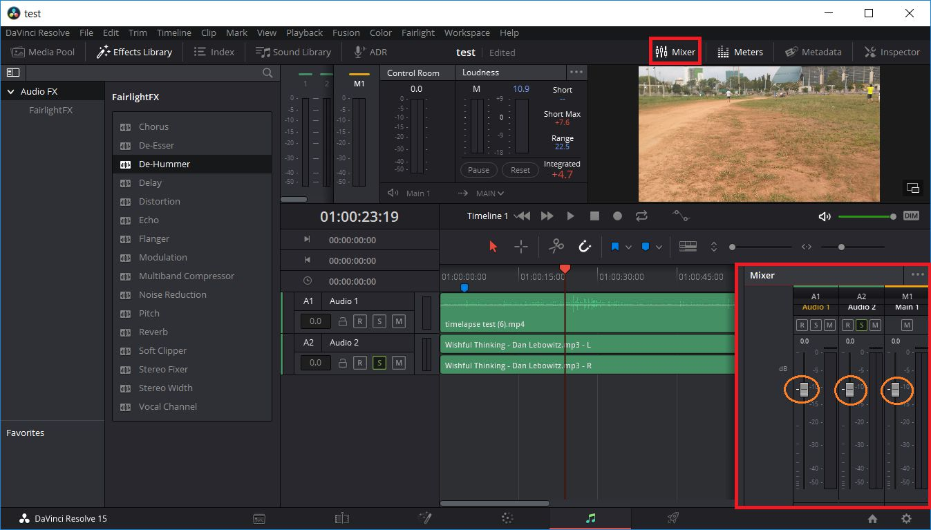 Davinci Resolve - Chinh Am Luong Audio