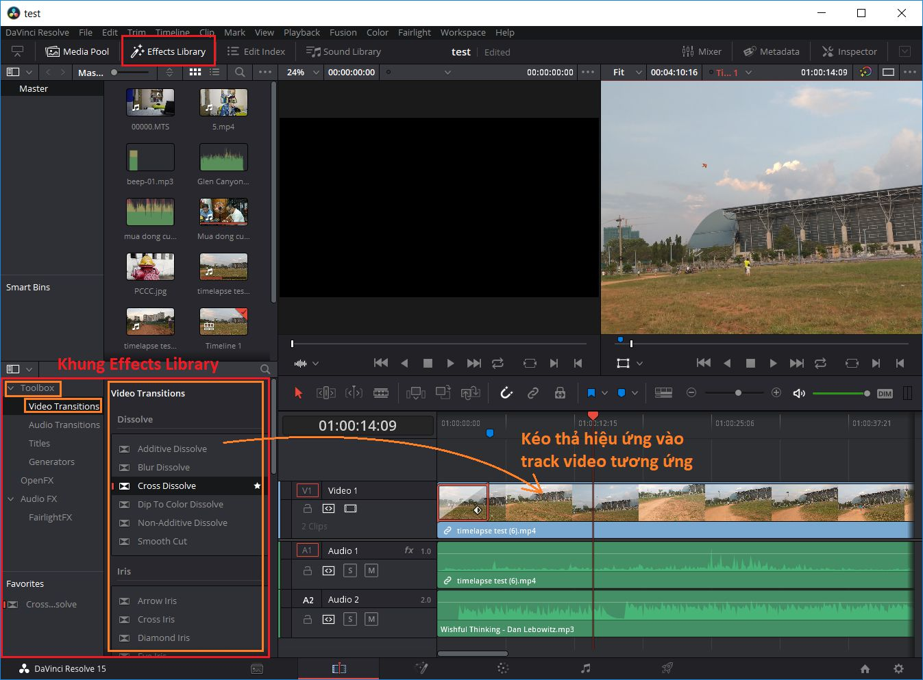 Davinci Resolve - Hieu Ung Chuyen Canh Video