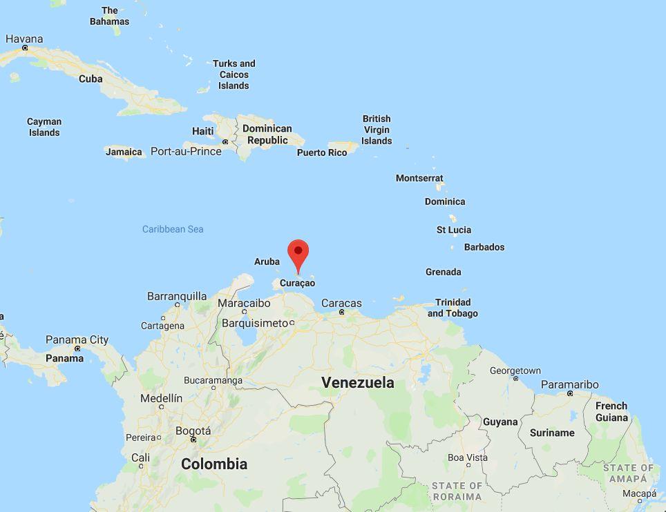 Vị trí quốc gia Curacao