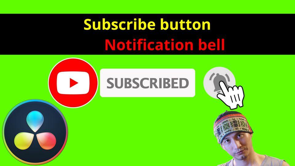 [DaVinci Resolve] Hướng dẫn tạo nút Subscribe chèn vào video