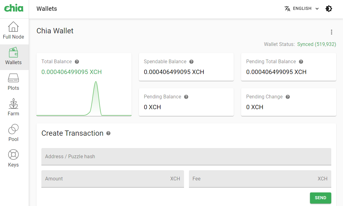 chia blockchain v1.2.0 wallet